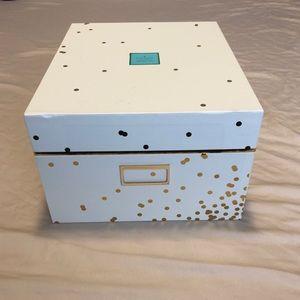 Kate Spade Gold Confetti Nesting Box